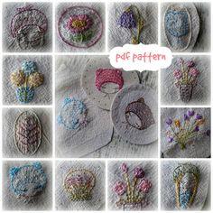 mini embroideries hand embroidery pattern von LiliPopo auf Etsy