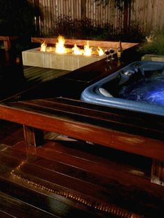 Landscape Hot Tub Design, Pictures, Remodel, Decor and Ideas