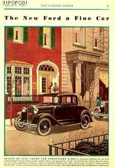 Old car and truck advertisements, Ford