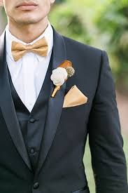 Image result for gold bow tie wedding
