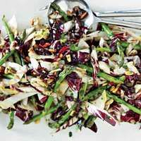 Wilted Radicchio, Endive and Asparagus Salad | http://www.rachaelraymag.com/Recipes/rachael-ray-magazine-recipe-search/salad-recipes/wilted-radicchio--endive-and-asparagus-salad
