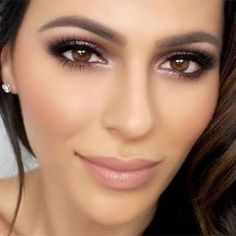 Superbe Maquillage pour les yeux Maquillage Nude Smokey ♥ mariage naturel  891913