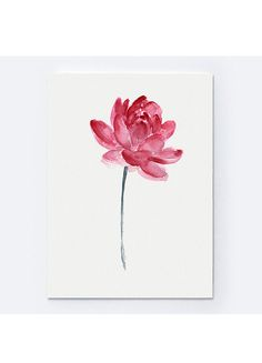 Lotus Flower Watercolor Painting Abstract by ColorWatercolor  #lotos #flowers #pink #floral #posters