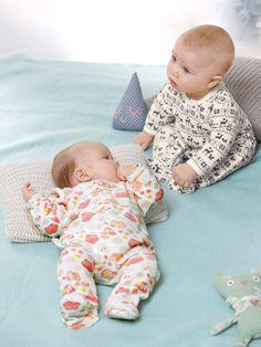 lot de 2 pyjamas bébé velours, Bébé