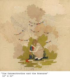 """The Concentration and the Romance"" by Hollie Chastain.  This would be cute in a girl's room."