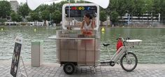 tricycle business - Google Search Caravan Shop, Market Stands, Outdoor Furniture Sets, Outdoor Decor, Tricycle, Ecology, Recycling, Street View, Building