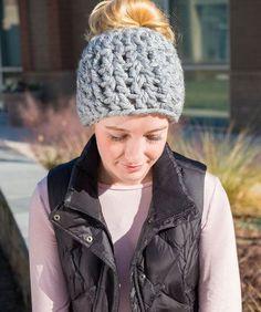 On-Trend Messy Bun Hat free pattern