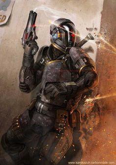 35 Super ideas for sci fi fantasy art tech armors Futuristic Armour, Futuristic Art, Armor Concept, Concept Art, Art Science Fiction, Pulp Fiction, Mode Cyberpunk, Chasseur De Primes, Cyberpunk Character