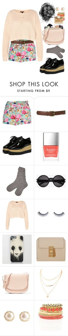 """""""Untitled #562"""" by eduardafrancisca69 ❤ liked on Polyvore featuring WithChic, Butter London, UGG, Yves Saint Laurent, Mandi, Napoleon Perdis, Chloé, Mansur Gavriel and Charlotte Russe"""