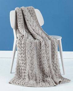 NEW Crocheted Cable Afghan  Crocheted Blanket by HighlandCreek, $70.00