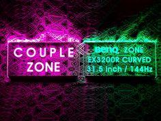 피시방 파티션, 벽면, 천정 등 설치장소에 상관없이 간단하게 주문하여 제작 설치 가능한 아크릴 led 전용석 사인입니다. Neon Signs, Couples, Couple