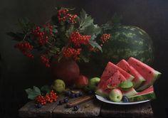 Фотография Натюрморт с калиной и арбузом / Марина Филатова / photographers.com.ua