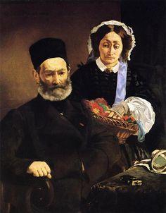 Portrait of Monsieur and Madame Auguste Manet, Édouard Manet