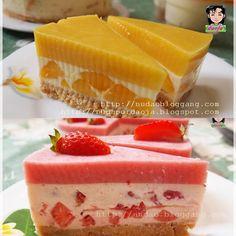 <Mango or Strawberry SWIRL CHEESECAKE>เค้กสวยๆที่ไม่ต้องใช้เตาอบไม่ต้องใช้เครื่องผสมอาหาร [Bakery & Ice Cream]