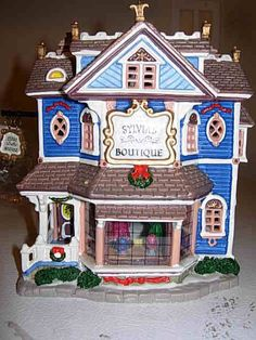 Lemax 2005 Caddington Village lighted house Sylvia's Boutique #45115