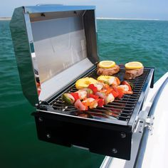 Our pontoon grill.. We got the portable grill from lowes
