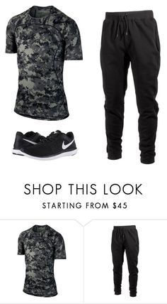 """""""Shoulder Day - Friday"""" by ajay-parmar on Polyvore featuring NIKE, Ideology, men's fashion and menswear"""