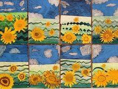 Kuvis ja askartelu 2 - www.opeope.fi Fall Art Projects, Group Art, Art Curriculum, Van Gogh Art, 4th Grade Art, Arts Ed, Autumn Art, Preschool Art, Art Lesson Plans
