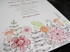 Favorite  Like this item?    Add it to your favorites to revisit it later.  Flower Wedding Invitations
