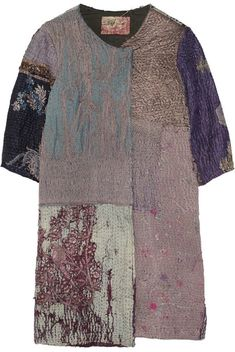 By Walid Embroidered silk coat