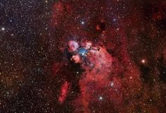 Here is the stunningly beautiful nebula known as NGC 6334 or also known as the Cat's Paw Nebula Cosmos, Child Of The Universe, Galaxy Pictures, Star Formation, Hubble Space Telescope, Light Year, Astrophysics, Cat Paws, Deep Space