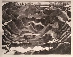 Nash, Paul 'The Mine Crater, Hill Ypres Salient', Lithograph, 1917 - Fine Art prints paintings drawings sculpture uk Ww1 Art, John Nash, Max Ernst, Galleries In London, Magritte, Joan Miro, Caricature, Painting & Drawing, Fine Art Prints