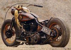 Brown Harley Rat Bike Picture