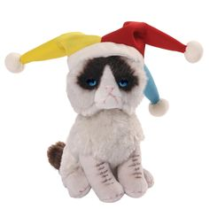 Our Grumpy Cat Jester Plush Toy is a fun Gund cuddly toy designed after internet celebrity feline Grumpy Cat. Order your Grumpy Cat plush toy online or by telephone for fast UK delivery. Jester Hat, Court Jester, Cat Lover Gifts, Cat Gifts, Cat Lovers, Grumpy Cat Plush, Grump Cat, Cat Dressed Up, Toy Store