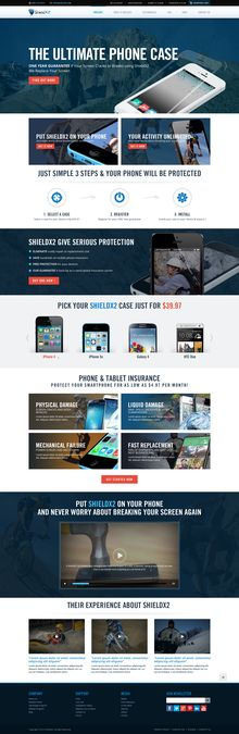 Homepage Designer create a unique website homepage design for family investment