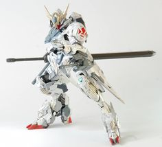 HG 1/144 Barbatos Lupus + Galaxy Canon - Custom Build