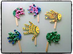 poissons marionnettes, mer et océan, bricolage enfant, batonnet en bois
