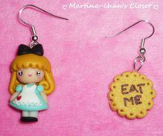 Alice in Wonderland HANDMADE earrings II