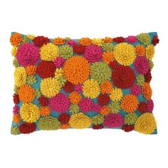 Layers of cut wool felt in impossibly bright colors makes the Trixie Pillow literally burst with warm fuzzies. | Company C