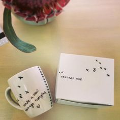 Leave a message to your loved one on her/his mug every morning - online & in She & Him, Pop Up, Messages, Mugs, Shop, Popup, Tumblers, Mug