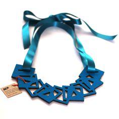 Turquoise Felt Necklace. #KinshipofOxford