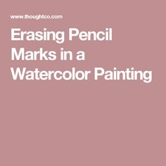 Erasing Pencil Marks in a Watercolor Painting #watercolorarts