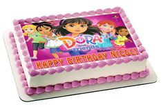 Dora and Friends 2 Edible Birthday Cake Topper OR Cupcake Topper, Decor - Edible Prints On Cake (Edible Cake &Cupcake Topper) Edible Cake Toppers, Birthday Cake Toppers, Cupcake Toppers, Cupcake Cakes, Birthday Cakes, Dora And Friends, Friends Cake, Wedding Cake Fresh Flowers, Cool Wedding Cakes