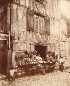 Rouen - maison 108 rue Moliere by Eugene Atget, by George Eastman House Paris 1900, Paris 3, Old Paris, Vintage Paris, Eugene Atget, Vintage Photographs, Vintage Images, Old Pictures, Old Photos