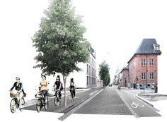 OKRA (2013): Cycling for All, Oslo (NO), via okra.nl Study Architecture, Architecture Graphics, Architecture Portfolio, Architecture Drawings, Landscape Architecture, Urbane Analyse, Urban Design Diagram, Photoshop Rendering, Public Space Design