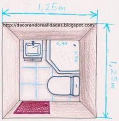 Resultado de imagen para medidas de baños pequeños con bidet