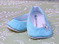 Zapatos de Elsa para American Girl por MyGirlClothingCo en Etsy