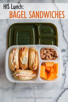 Husband Lunch: Bagel Sandwiches