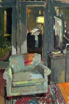 """""""Président de la nuit""""  par Carole Rabe huile sur toile, encadré, 30 pouces par 20 pouces  $ 1800"""