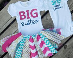 Coordinating sibling outfits Big sister little brother by MyMPB