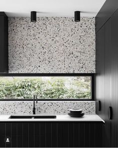 """Perini Tiles on Instagram: """"Stunning use of our Andria Grigio natural terrazzo in this beautiful kitchen design by @gia_renovations 🖤🖤 . . #terrazzotiles…"""""""