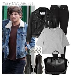 """""""Out In NYC With Louis"""" by onedirectiondress ❤ liked on Polyvore featuring Paige Denim, Acne Studios, 3.1 Phillip Lim, Givenchy and ASOS"""