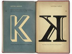 The letter K - a mirror image.