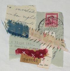 t i n a g i l m o r e -tiny stitched paper collage