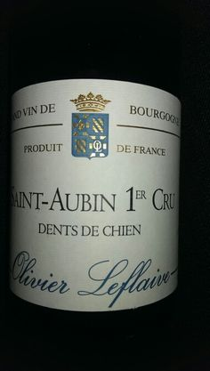 Very unknown wine from the vineyard dents de chien burgundy - one of my favourite