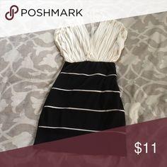 White/Black Short Dress Med. White/Black. Body Central Short Dress. Worn 1 time. Body Central Dresses Mini